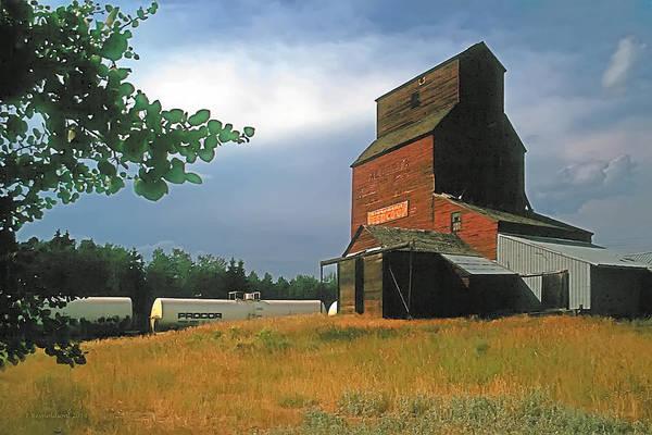 Barley Painting - Prairie Sentinel by Terry Reynoldson