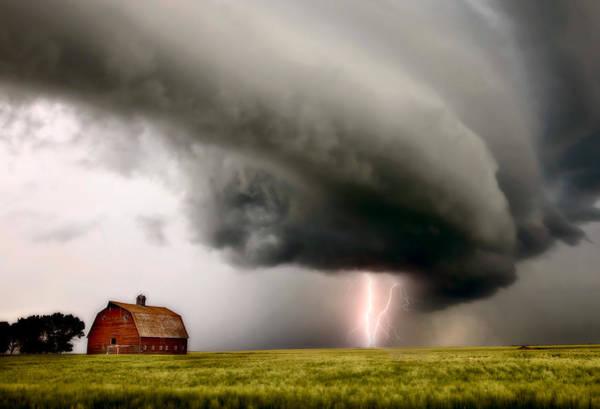 Wall Art - Photograph - Prairie Storm Clouds Lightning Storm by Mark Duffy