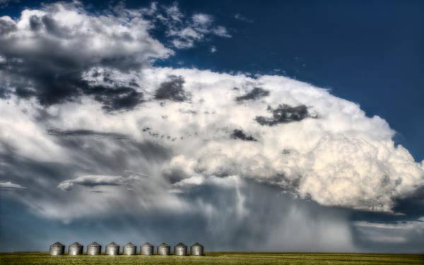 Prairie View Digital Art - Prairie Storm Clouds by Mark Duffy