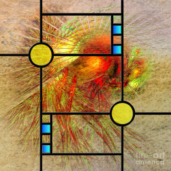Apophysis Digital Art - Prairie View - Square Version by John Beck