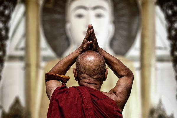 Buddhism Photograph - Praise by Tom Baetsen -