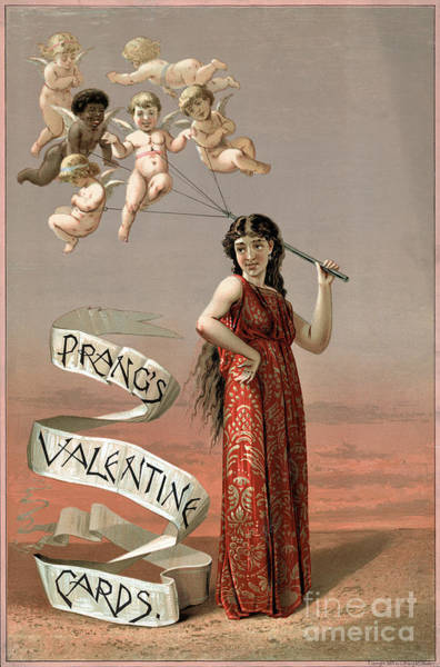Photograph - Prangs Valentine Cards 1883 by Science Source