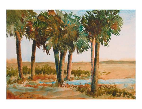 Painting - Prarie Palms II by Peter Senesac