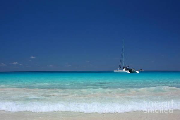 Praslin Island Catamaran Art Print