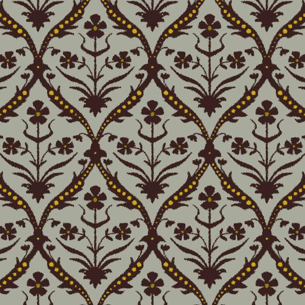 Wall Art - Drawing - Praval Trellis Ikat by MGL Meiklejohn Graphics Licensing