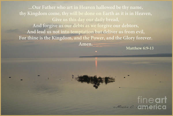 Photograph - Pray In This Manner... by Monica C Stovall