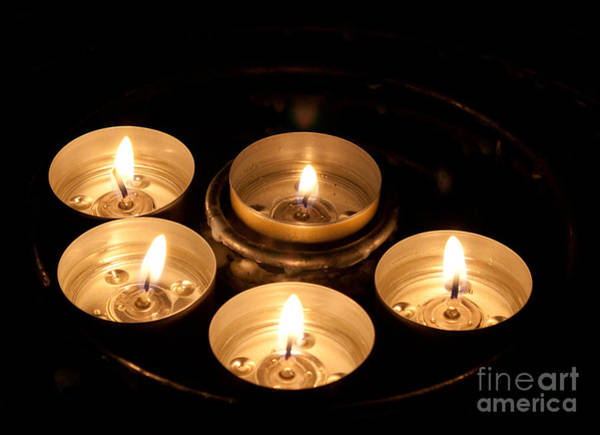 Prayer Candles In Notre Dame Art Print