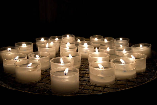 Stoney Photograph - Prayer Candles In The Church Of Santa by Jan and Stoney Edwards