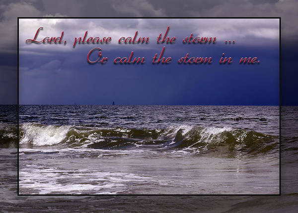 Photograph - Prayer In Storm by Carolyn Marshall