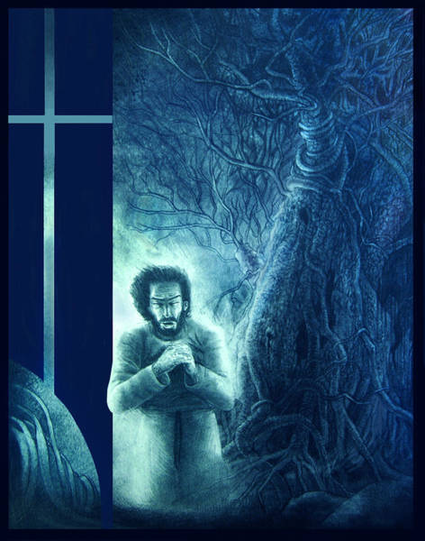 Soothing Drawing - Prayer Jesus by Andy Nugent