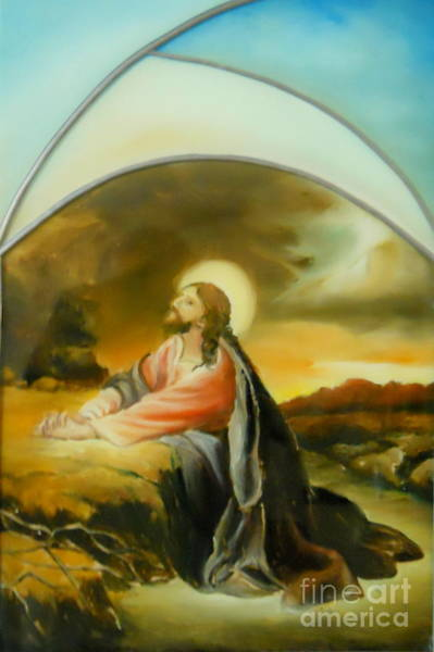 Prayer Of Jesus Art Print