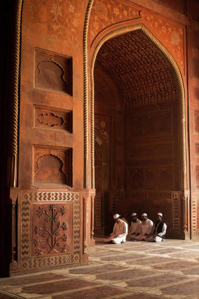 Candid Photograph - Prayers Inside A Mosque by Ayan82