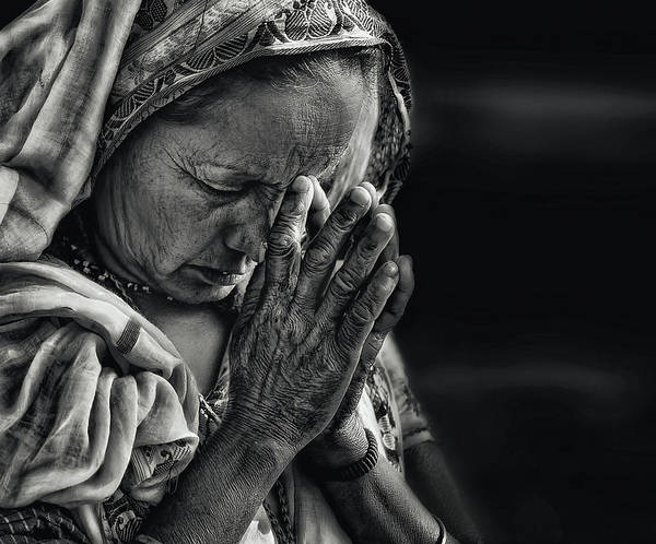 Lady Photograph - Prayers by Piet Flour