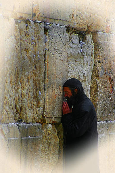 Photograph - Praying At The Western Wall by Doc Braham