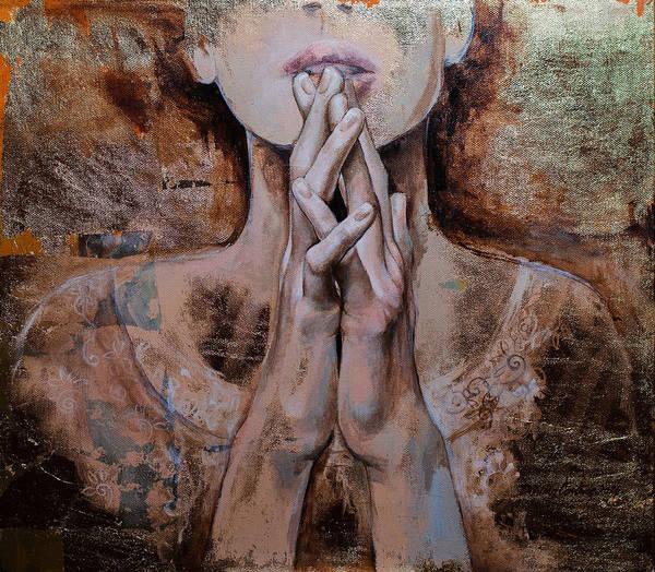 Wall Art - Painting - Praying by Dorina  Costras