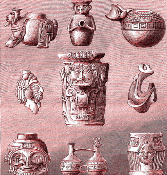 Colombian Wall Art - Photograph - Pre-colombian Archaeological Artifacts by Collection Abecasis/science Photo Library