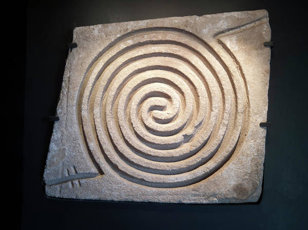 Aztec Photograph - Pre-columbian Spiral Rock Carving by Daniel Sambraus
