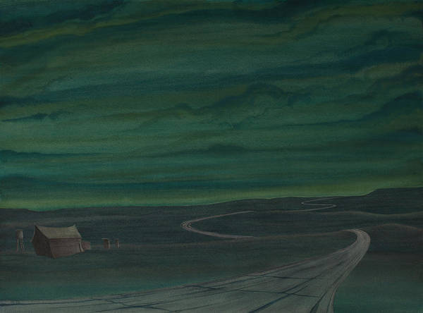 Drawing - Pre-dawn On The Hi-line V by Scott Kirby