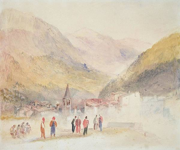 Italy Drawing - Pre St Didier, 1836 by Joseph Mallord William Turner