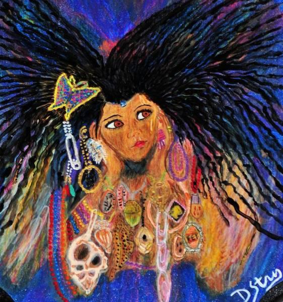 Mixed Media - Precious Fairy Child by Deborah Stanley