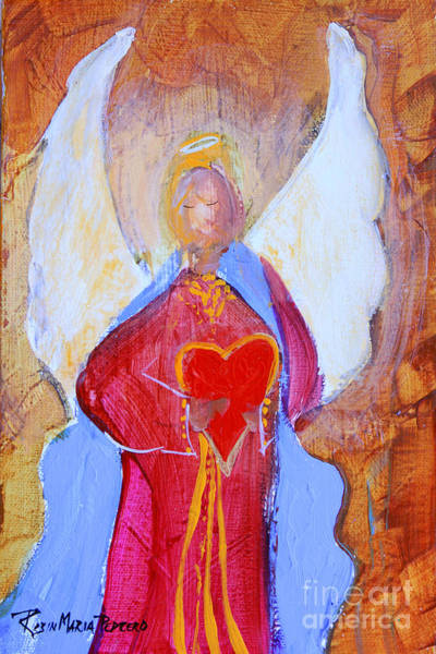 Painting - Precious Heart Angel by Robin Maria Pedrero