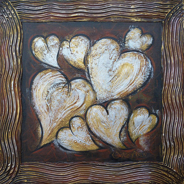 Painting - Precious Hearts 301110 by Selena Boron
