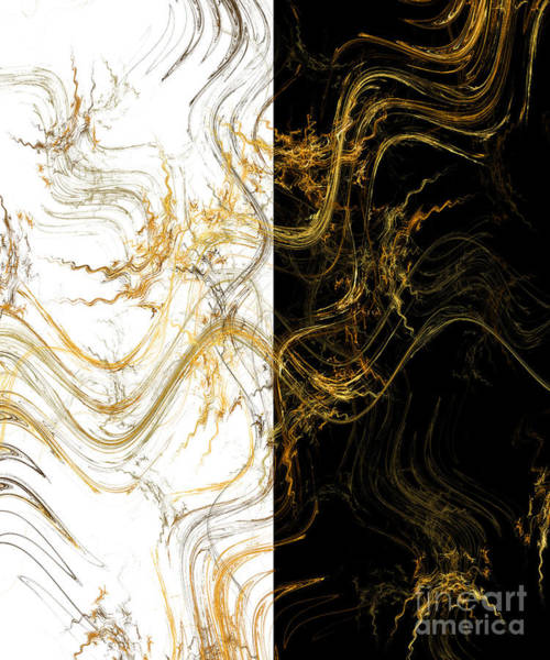 Wall Art - Digital Art - Precious Metal 3 Black And White Decorator Collection 1 by Andee Design