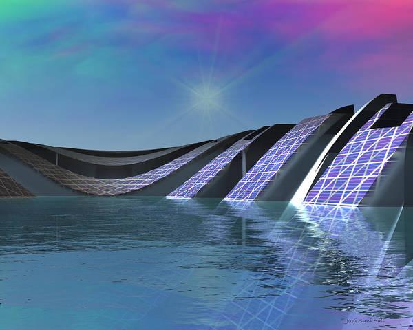 Digital Art - Precious Water Alien Landscape by Judi Suni Hall