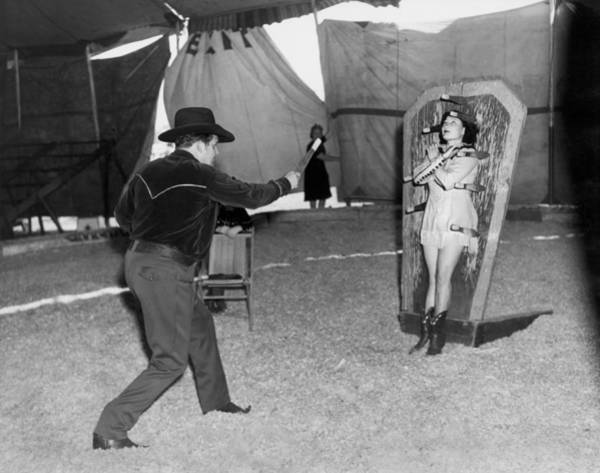 Appearance Photograph - Precision Knife Throwing by Underwood Archives