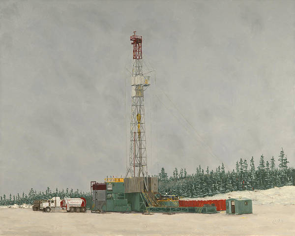 Art In Canada Painting - Precision Rig 226 by Galen Cox