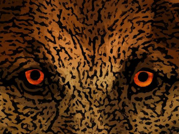 Wall Art - Digital Art - Predator Eyes by Daniel Hagerman