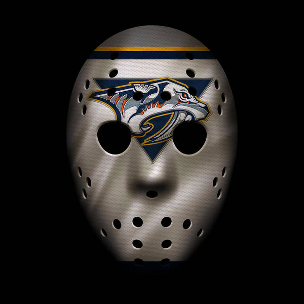 Wall Art - Photograph - Predators Jersey Mask by Joe Hamilton