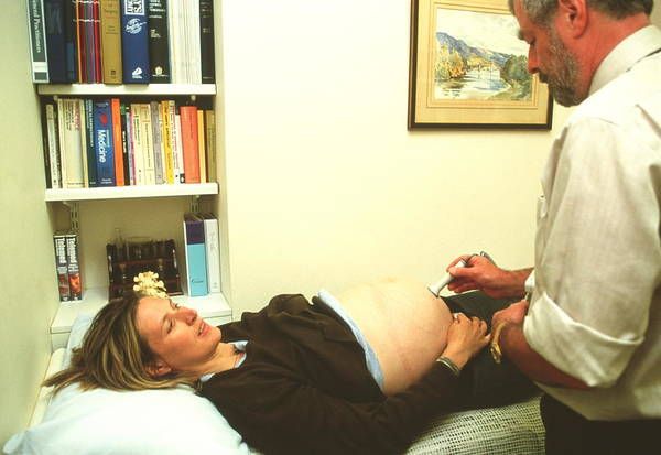 Pregnant Photograph - Pregnancy Ultrasound Scan by Antonia Reeve/science Photo Library
