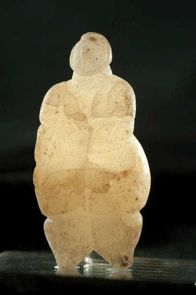 Alabaster Photograph - Prehistoric Alabaster Figurine by Marco Ansaloni / Science Photo Library