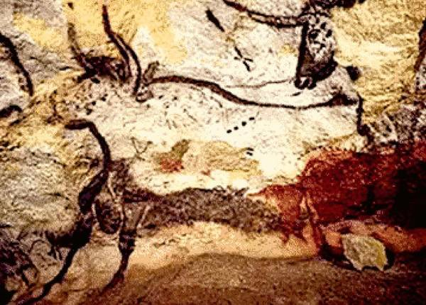 Hereford Bull Painting - Prehistoric Bulls Lascaux Cave Se France  by L Brown