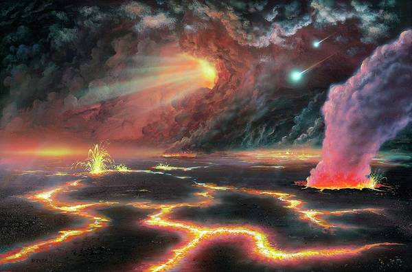 Dusty Photograph - Prehistoric Earth by Richard Bizley/science Photo Library