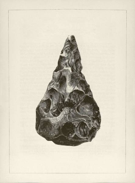 Artifacts Wall Art - Photograph - Prehistoric Stone Tool by Middle Temple Library