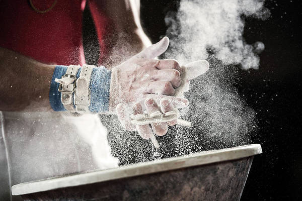Human Hand Photograph - Preparation For Gymnastic Bars by Skynesher