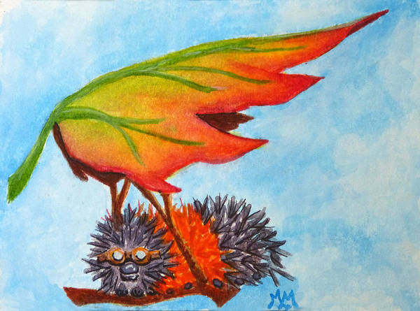Painting - Preparing For Wings by Monique Morin Matson