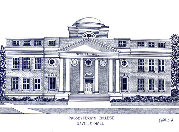 Wall Art - Drawing - Presbyterian College by Frederic Kohli