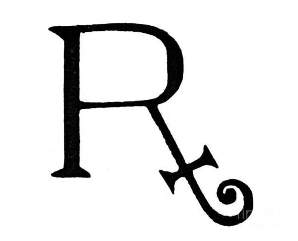 Photograph - Prescription Symbol by Granger