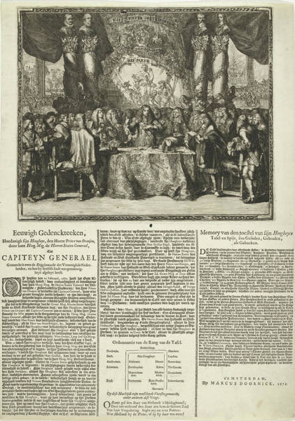 Fireworks Drawing - Presentation And Description Of The Appointment Of Prince by Frederik Hendrik And Willem Ii And Romeyn De Hooghe