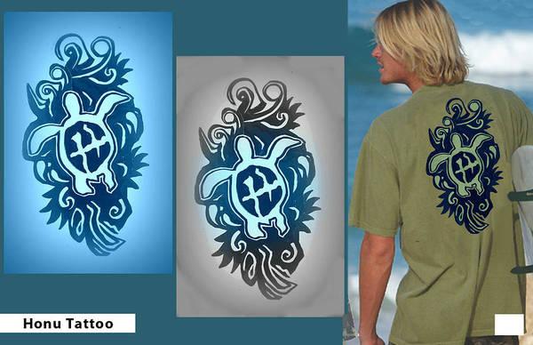 Wiese Digital Art - Presentation Board - Honu Tattoo by Wendy Wiese