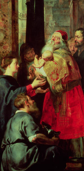 Wall Art - Painting - Presentation In The Temple by Rubens