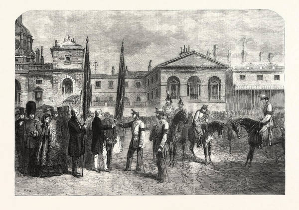 Old Style Drawing - Presentation Of The Colours Of The Old Westminster by English School