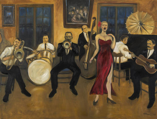 Painting - Preservation Hall by Laura Lee Cundiff