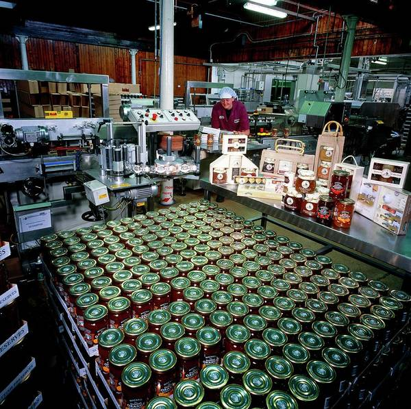 British Food Photograph - Preserve Production by Brian Bell/science Photo Library