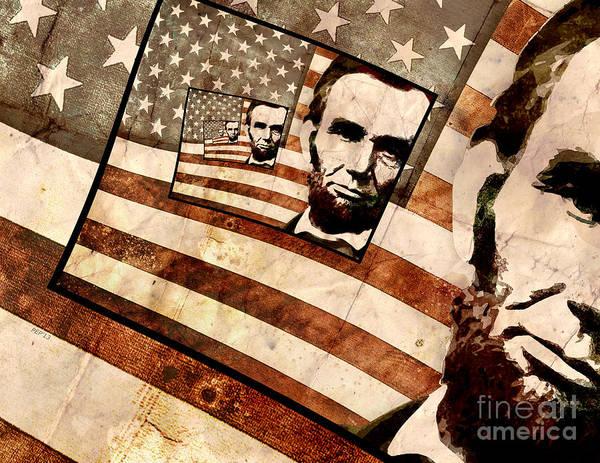 Wall Art - Digital Art - President Abraham Lincoln by Phil Perkins