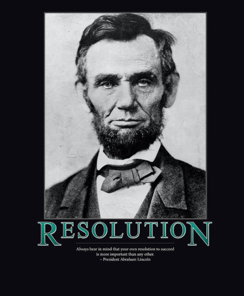 Wall Art - Photograph - President Abraham Lincoln Resolution  by Retro Images Archive