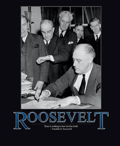 Wall Art - Photograph - President Franklin D. Roosevelt by Retro Images Archive